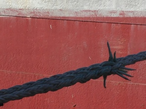 Rigging on the Wavertree. Spliced strength.