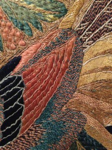 Chinese for Export embroidery. Detail